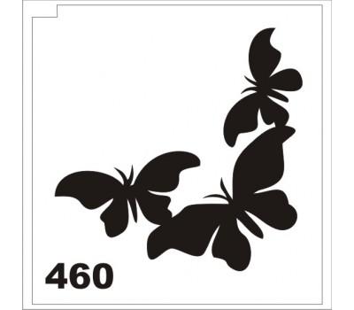 Трафарет для блеск-тату бабочка 460