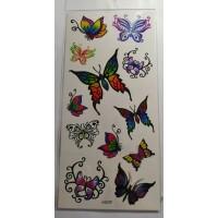 Флеш и 3D тату бабочки и цветы