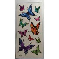 Флеш и 3D тату бабочки