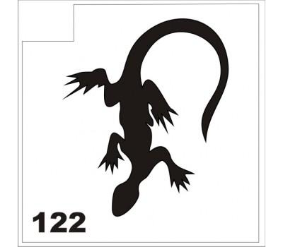 Трафарет для блеск-тату ящерица 122