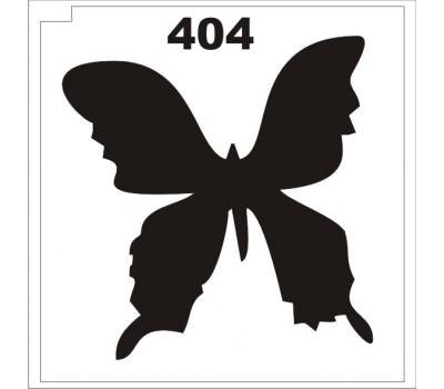 Материалы для блеск-тату трафарет бабочка 404