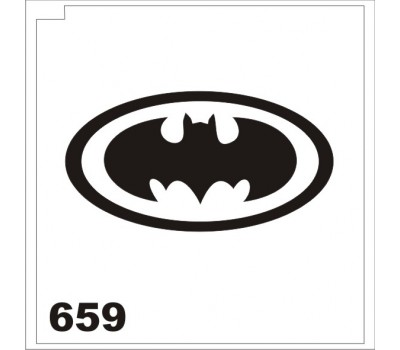 Трафарет для блеск-тату Бэтмэн 659
