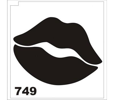Трафарет для блеск-тату Губки 749