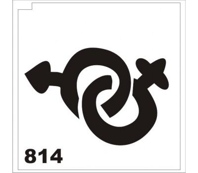 Трафарет для блеск-тату Знаки 814