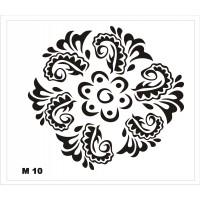 Трафарет для мехенди М10, 16*14 см.