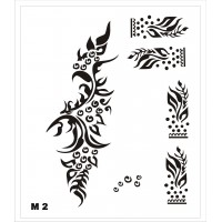 Трафарет для мехенди М2, 16*14 см