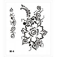 Трафарет для мехенди М4, 16*14 см