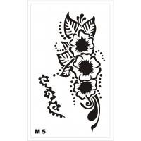 Трафарет для мехенди М5, 16*10 см.