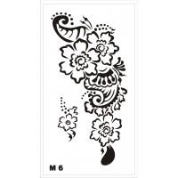 Трафарет для мехенди М6, 16*9 см
