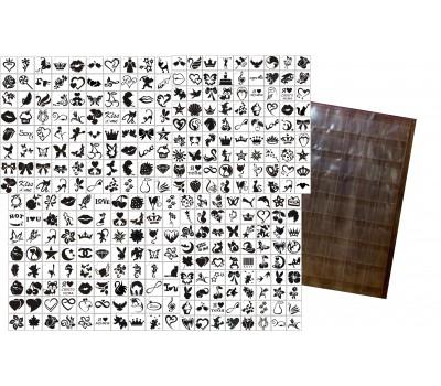 Набор трафаретов 300 шт. . + подарки (подробности в описании)